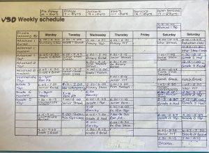 Dance Timetable May 2021